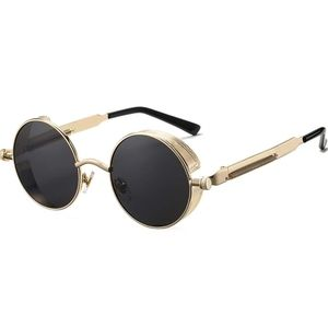 Other - Vintage Round Steampunk Sunglasses for Women Men R